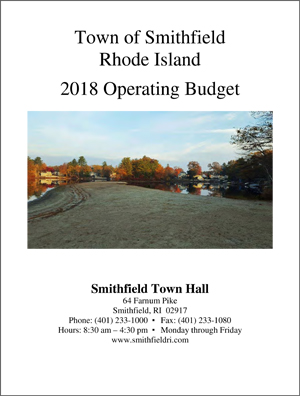 Town of Smithfield FY 2018 Budget Book