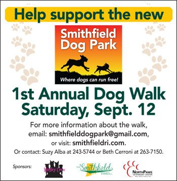 Smithfield Dog Park First Annual Dog Walk - Saturday, September 12th