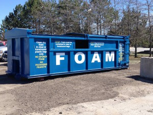 Drop off clean, dry foam for recycling at RIRRC