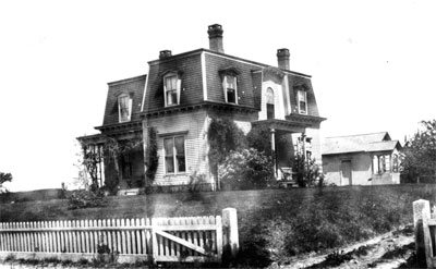 Oscar Tobey lived in this large Victorian Home on Putnam Pike that is still standing today.